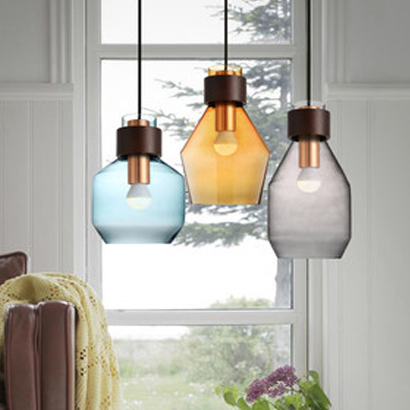 Small Dining Table Light Wood Modern Glass Color Pendant Lights Chandelier Kitchen Lamp Ceiling Bedside Shades Nordic Fixtures free shipping modern dining table designs discount lamp shades