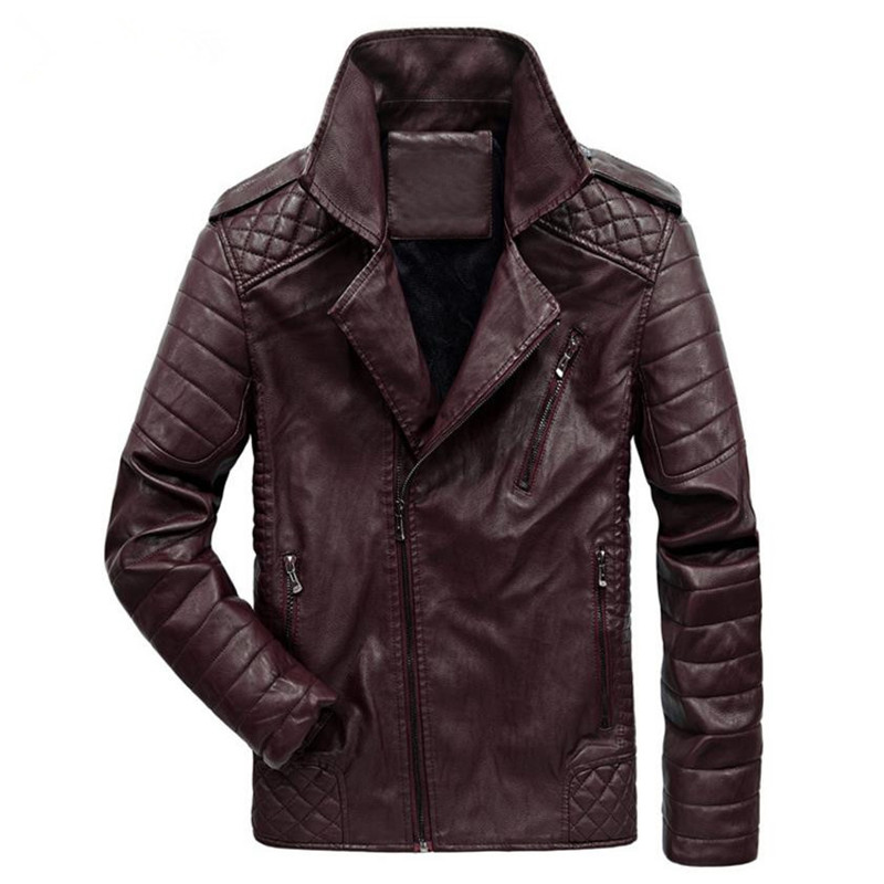 2018 New Autumn And Winter Males's Leather-based Jacket Coat Basic British Bike Leather-based Jacket Leisure Clothes