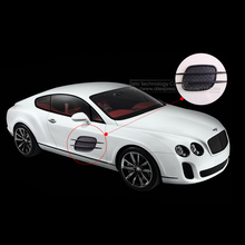 Car Styling 3D Car Vent Air Flow Fender Sticker, Car Side Door Decals Auto Hole Intake Duct Flow Grill