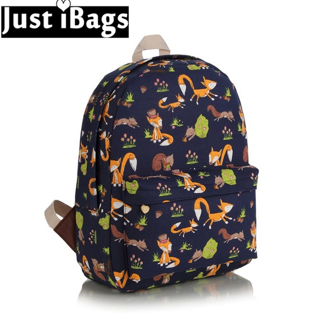 The Little Prince fox printed backpacks cartoon girls cute ...