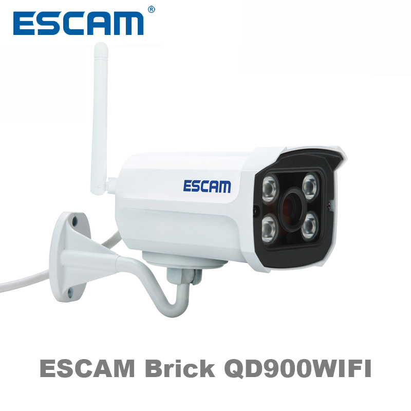ESCAM Brick QD900WIFI 2 MP full HD Network IR-Bullet Camera Day/Night IP66 onvif 2.2 1080p 3.6mm fixed Lens wireless ip camera escam qd900 wifi ip camera 2mp full hd 1080p network infrared bullet ip66 onvif outdoor waterproof wireless cctv camera
