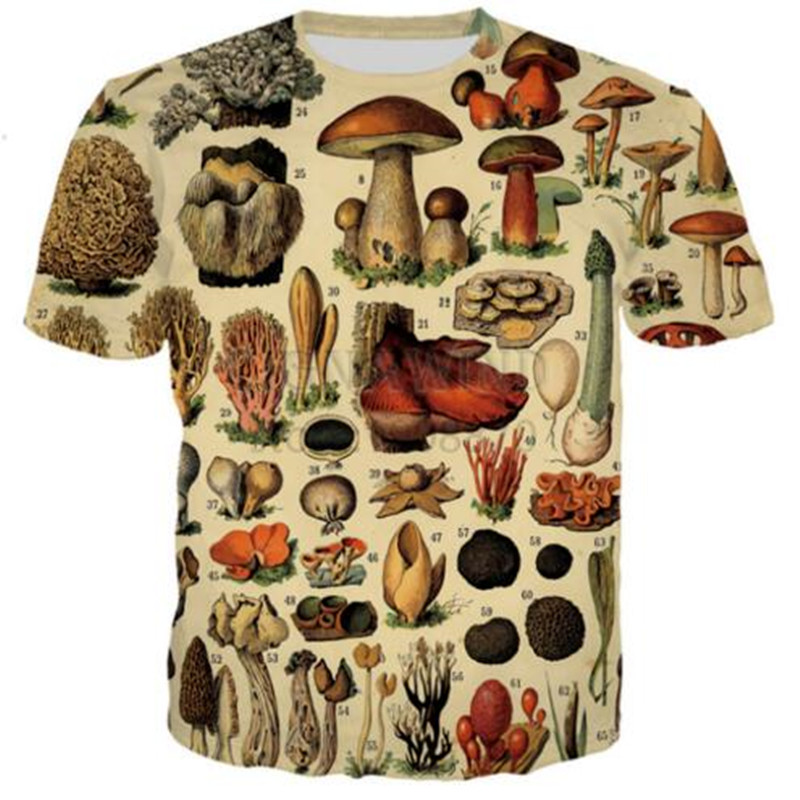 Sondirane Farm Animals 3D Print Mushroom   T     Shirts   Women/Men's Short Sleeve   T  -  Shirt   Casual Funny Hip Hop Tops Sunmmer Clothing