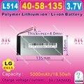 [L514] 3.7 V, 5000 mAH, [4058135] NTC; PLIB (bateria de iões de lítio polímero/bateria Li-ion) para banco de potência, tablet pc, gps, dvd, e-book, mp3, mp4