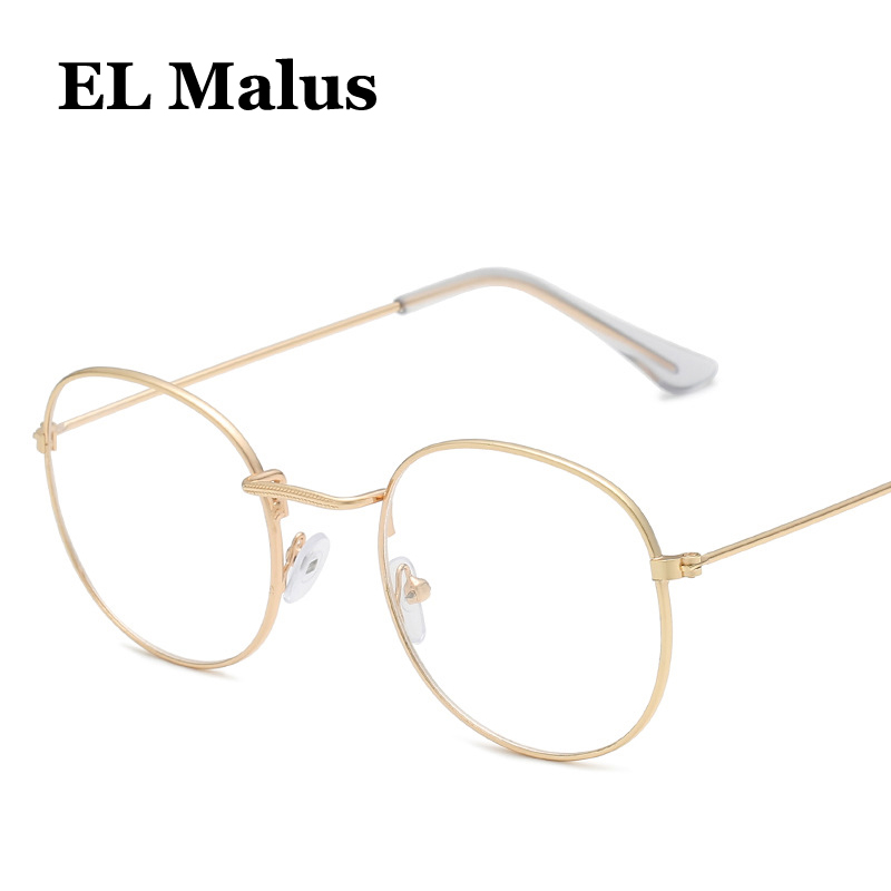 el Malus Women's Sunglasses Apparel Accessories retro Square Eyeglasses Frame Women Mens Clear Lens Glasses Metal Black Gold Silver Shades Brand Designer Comfortable Feel