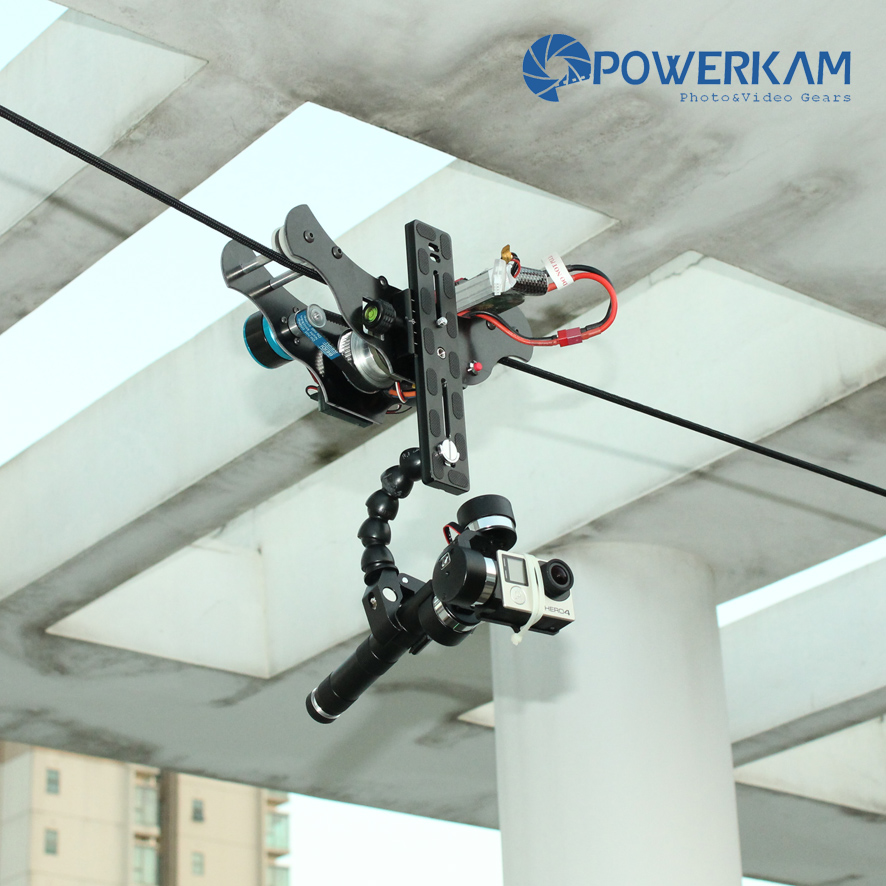 POWERKAM Black T 1.0 GOPRO version cablecam wirecam linecam rc shooting equipment for GOPRO HERO 3,HERO 4