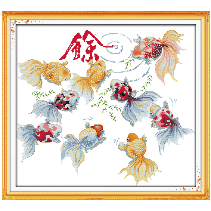 Treasures Fill The Home Counted Cross Stitch 11CT 14CT Cross Stitch Set Wholesale Animal Cross-stitch Kits Embroidery Needlework