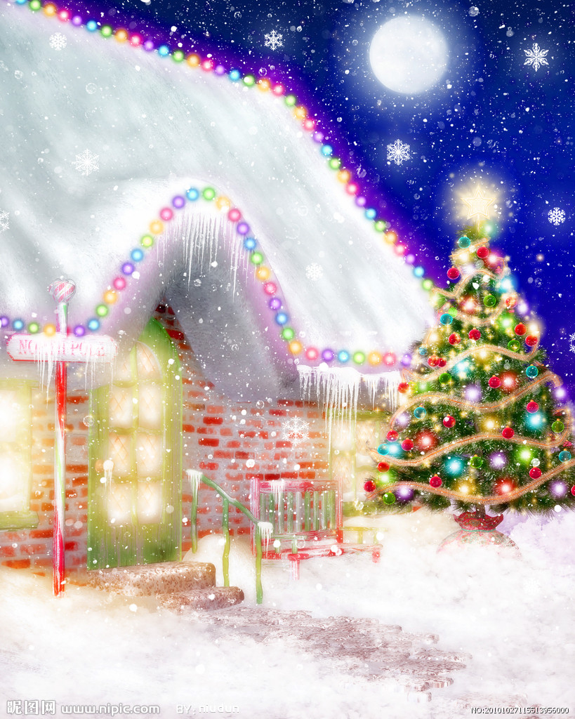 Beautiful christmas snow pictures the snow on christmas day in - The Print Oil Painting 30 40 The Beautiful Snow Night The Christmas Day Wall Art Home Decora Hall Gift No Frame In Painting Calligraphy From Home Garden