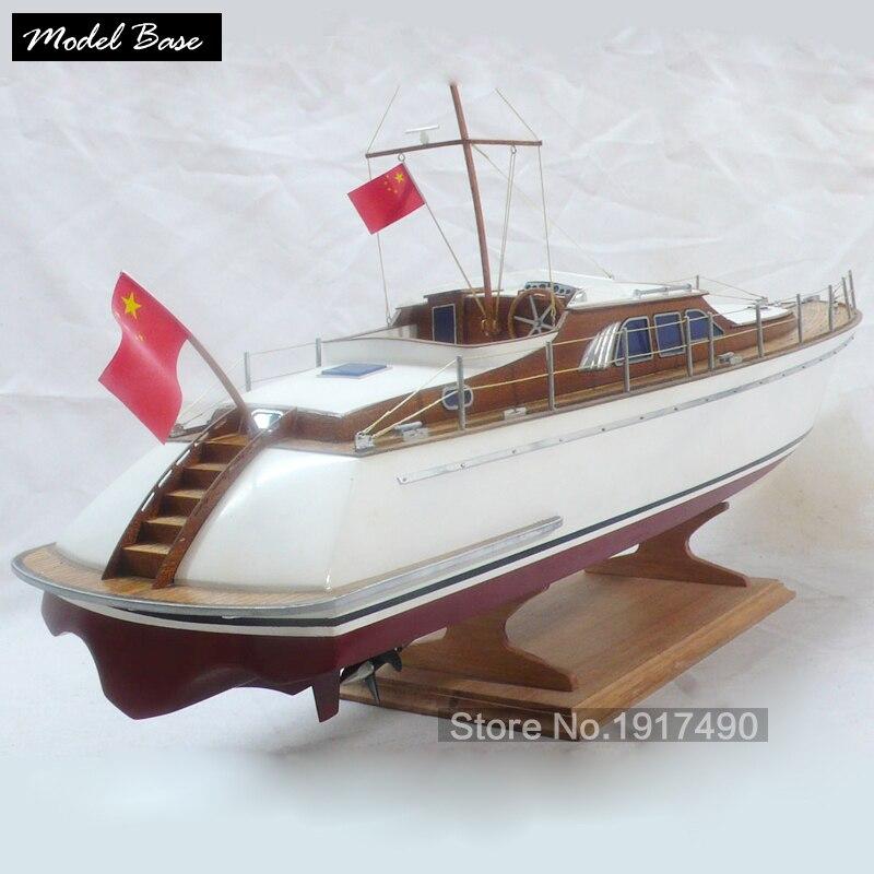 Wooden Ship Models Kits DIY Educational Model Boats Wooden 3d Laser Cut Scale 1/32 Luxury Yacht Wooden Model Kit Blue Knights