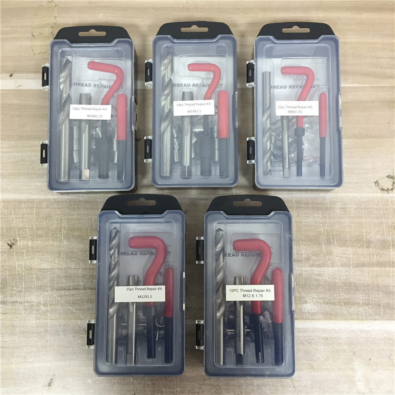 6 Kinds Of Recoil Thread Inserts Installation Kit Repair Tool Drill Tap M7 M9 M12 M14 SK1051