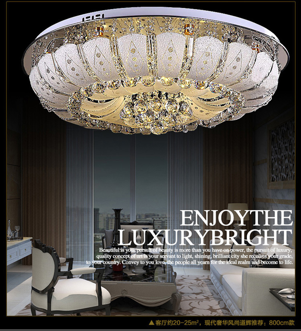 Ceiling Lights & Fans Led Postmodern Copper Crystal Stainless Steel Led Light.ceiling Lights.led Ceiling Light.ceiling Lamp For Foyer Bedroom Cheapest Price From Our Site