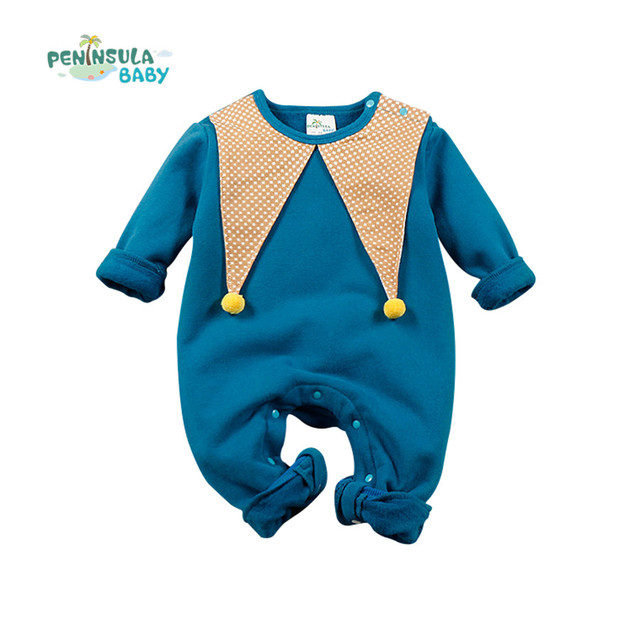 d0fb66581 Winter Newborn Baby Rompers Toddler Baby Boys Girls Clothes ...