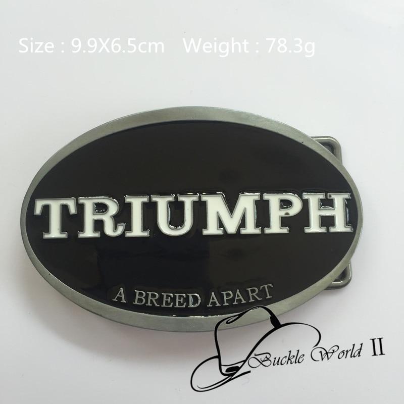 f856e4a25c51 New Style TRIUMPH une race APART ceinture boucle 99   65 mm 78.3 g ovale  noir métal pour 4 cm large ceinture classique hommes femmes Jeans  accessoires