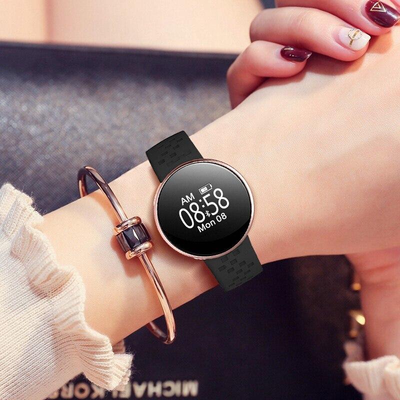 Montre Intelligente chaude Femmes Sport Bracelet Intelligent Femelle Surveillance de la Fréquence Cardiaque WeChat Rappelle Bluetooth IP67 Imperméable reloj mujer