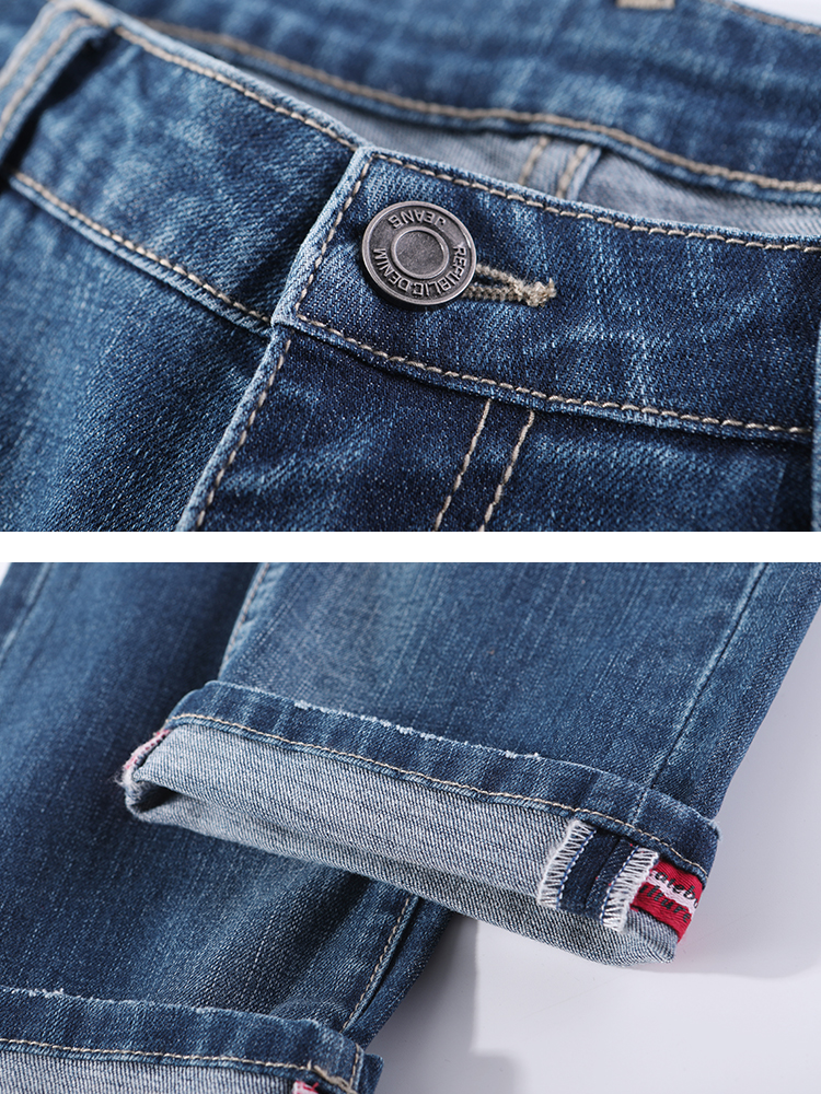 Image 5 - Pioneer Camp Jeans For Mens Regular Fit Pants Classic Jeans Male Jeans Embroidery Trousers Casual Straight Denim Pants ANZ908094Jeans   -