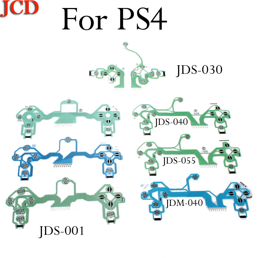 JCD For ps4 controller conductive film flex cable high quality for ps4 joystick repair part JDM-010 011 JDM-030 JDM-040 JDS-055(China)