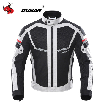 DUHAN Motorcycle Jacket Summer Men Moto Motocross Jacket Moto Protective Gear Breathable Mesh Reflective Motorcycle Clothing
