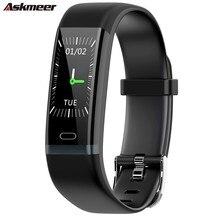 ASKMEER Y19 Smart Bracelet Heart Rate Blood Pressure Monitoring Band IP68 Waterproof Bluetooth Wristband Sport Watch