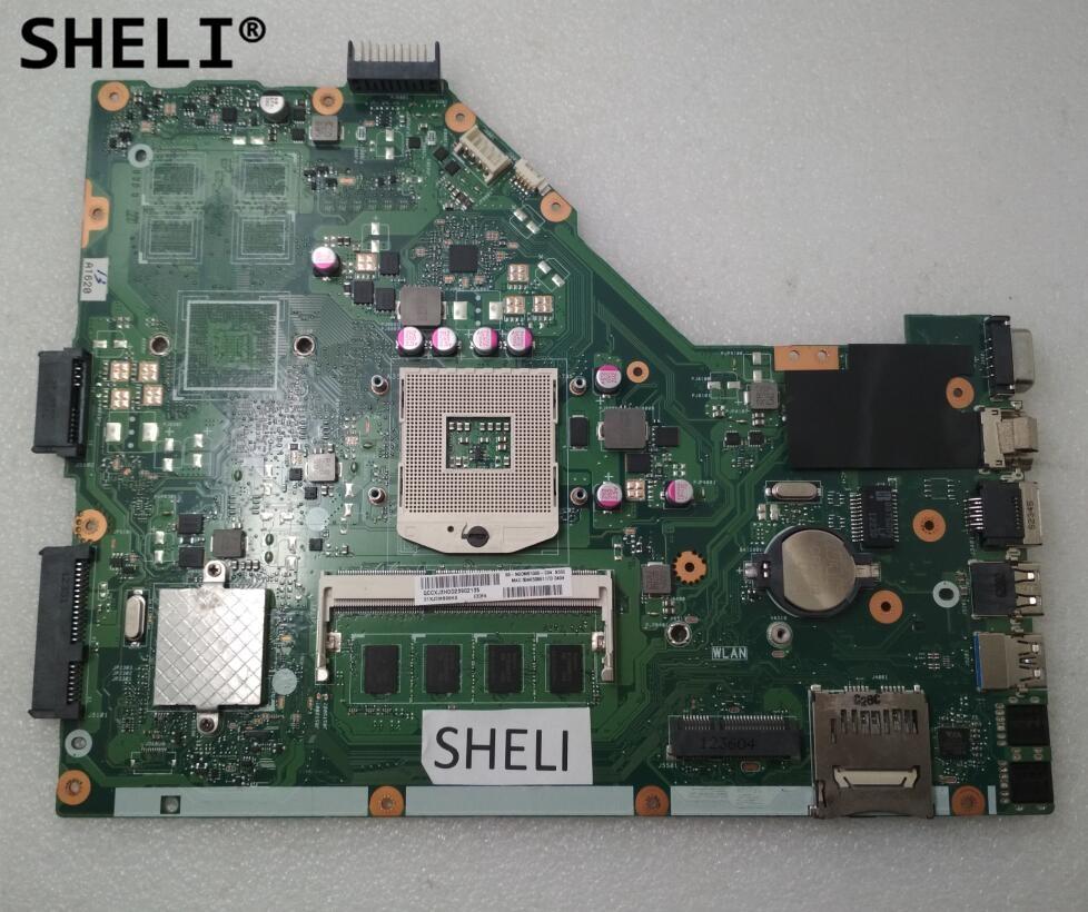SHELI For ASUS X55C X55VD Motherboard 2GB REV 2.1 / REV 2.2 60-N0OMB1100 free shipping new original x55c x55cr x55vd laptop motherboard main board rev 3 2 sr0dr i3 cpu usb 3 0 2gb ram tested working