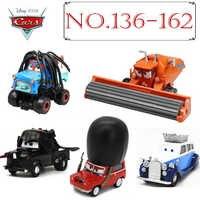 Disney Pixar-coches 3 2 1 de METAL fundido a presión para niños, coches raros de colección, juguetes para niños, camión de policía real, Mater, núm. 136-162