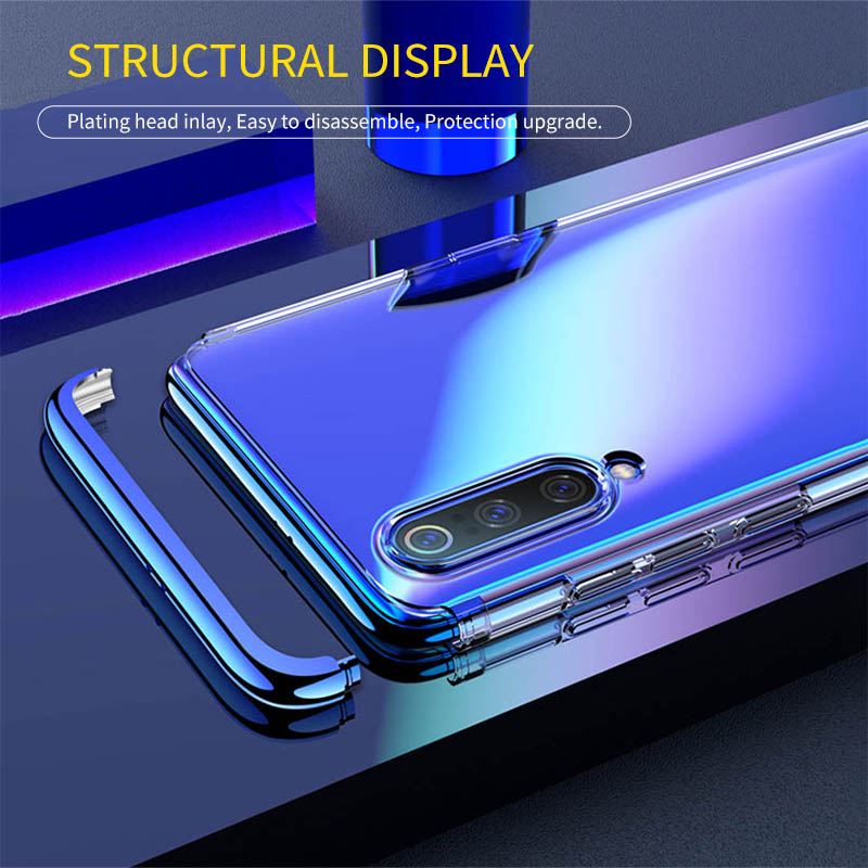 GKK original for Xiaomi Mi 9 Case Full Protection 3 in 1 Plating Transparent Back Anti fall Cover For Xiaomi Mi 9 Coque Case in Fitted Cases from Cellphones Telecommunications