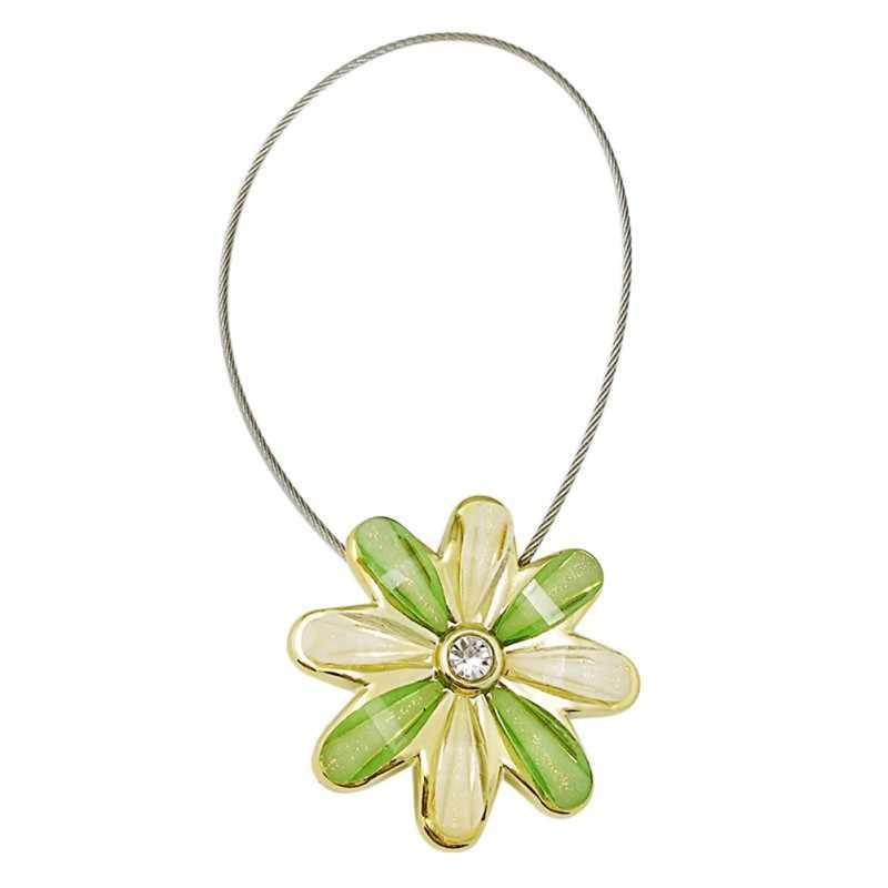 Noble fleur fil rideaux Tieback aimant rideaux boucle Installation gratuite magnétique rideau titulaire accessoires décor à la maison 2619