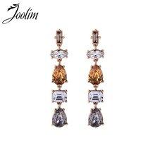 Классические стеклянные серьги подвески joolim модные ювелирные