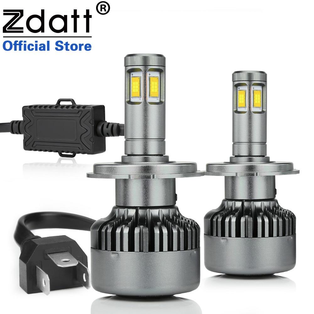 Zdatt CSP H4 Led Ampoule 100 w 14400LM Canbus Phares H7 H8 H11 LED Lampe 9005 HB3 9006 HB4 LED lumière Auto LED Lumière Automobiles