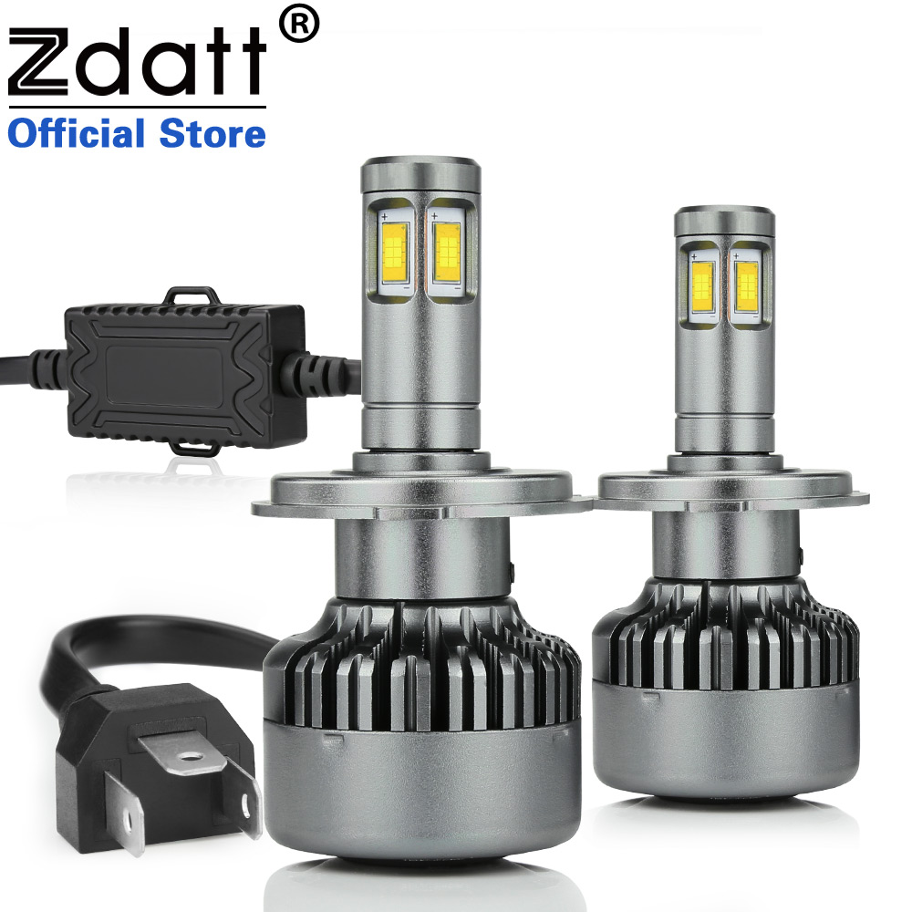 Zdatt CSP H4 Led Bulb 100W 14000LM Canbus Headlights H7 H8 H11 LED Lamp 9005 HB3 HB4 LED Light for Auto LED Light Automobiles цены