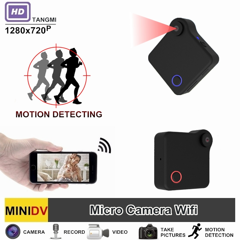 TANGMI C1 Full HD Video 720P DV DVR Mini Camera Wifi Wireless IP Micro Camcorder With Motion Sensor Best Portable Cam mini dv md80 dvr video camera 720p hd dvr sport outdoors with an audio support and clip