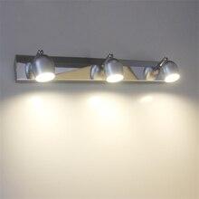 85-265Vac 2 глава, 3 глава ПРИВЕЛО настенный светильник с выключателем, настенный mirrior свет, 90 градусов угол луча, 3 Вт/для ванной комнаты
