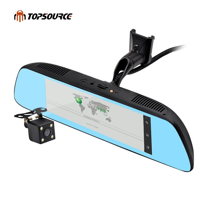 TOPSOURCE Nouveau 7 Spécial 3g DE VOITURE Miroir Rétroviseur De Voiture DVR Caméra Dvr Android 5.0 Avec GPS Navigation Automoblie vidéo Enregistreur