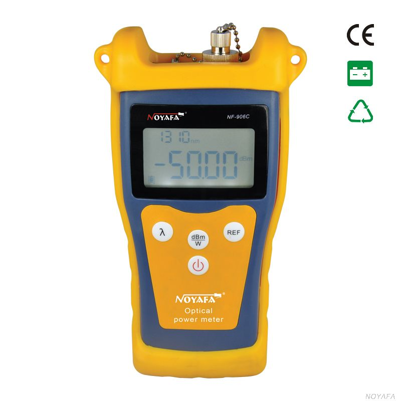 Optic multimeters NF-906C Optical Power Meter (not includa battery) free shipping noyafa nf 906c new optical power meter 850 1300 1310 1490 1550 1625nm and detecting range dbm 50 26