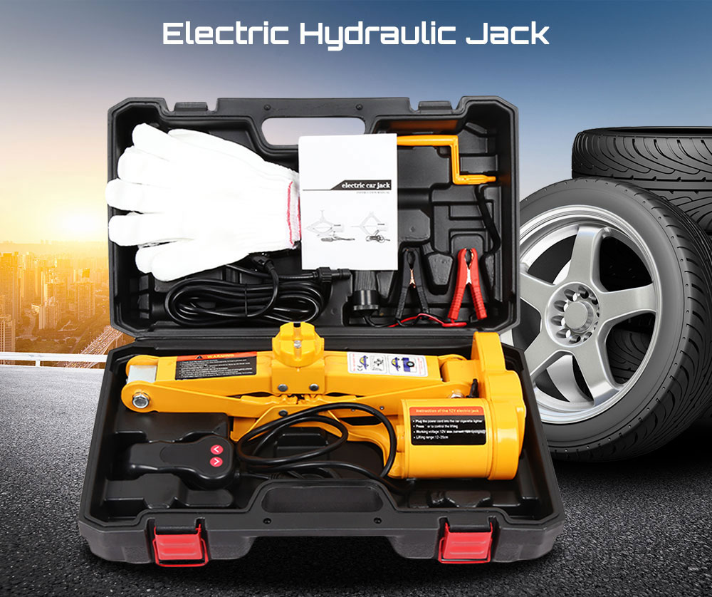 12 V Auto Électrique Hydraulique voiture jack Ascenseur Pneu outil de réparation Avec Une Opération Clé Garage Outils Pour Pneu Max 350mm hauteur de levage