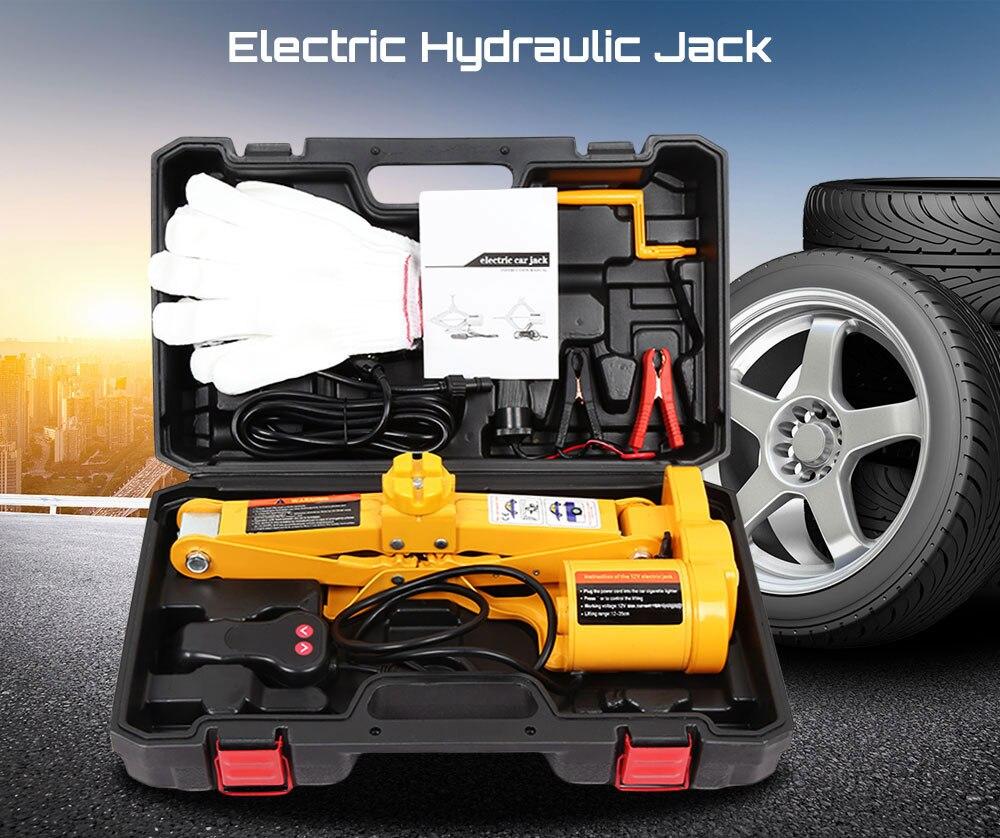 Outil hydraulique automatique de réparation de pneu d'ascenseur de voiture de cric de 12 V avec une opération principale outils de Garage pour la taille maximum d'ascenseur du pneu 350mm