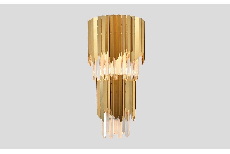 Acquista applique da parete moderna in oro illuminazione da parete