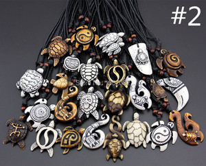 Image 2 - Смешанные ювелирные изделия, оптовая продажа, лот 25 шт., искусственная резная подвеска на удачу с морскими черепашками и серфингом, ожерелье MN386