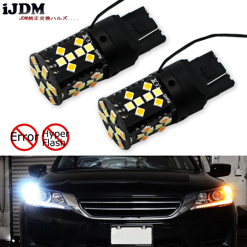 iJDM No Hyper Flash T20 LED High Power W21W 7440 Daytime Running Lights/Turn Signal Lights Conversion (No Resistor Required)