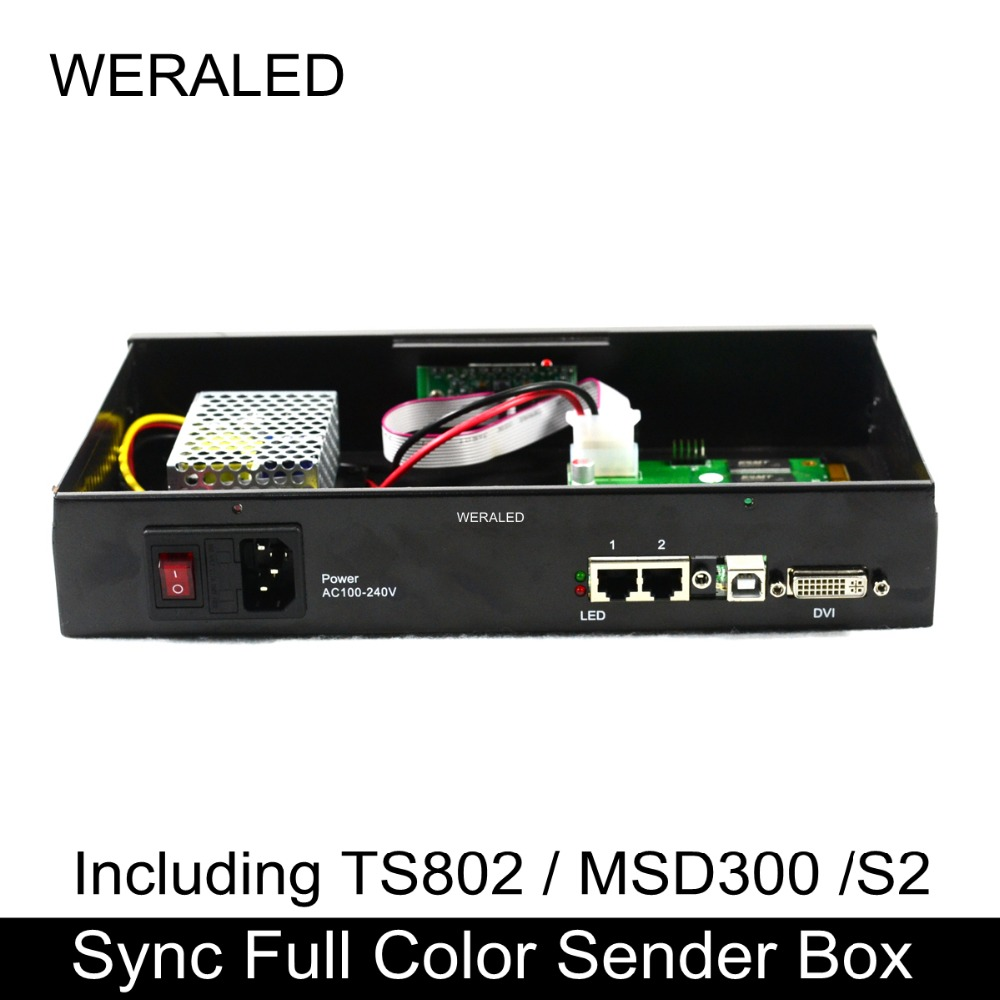 Boîte d'expéditeur polychrome synchrone de écran vidéo LED de la publicité avec la carte d'envoi instal LED prêt, travail pour P2 P3 P4 P5 P6 P8 P10