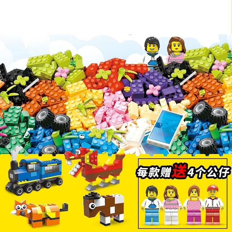 Legoing bausteine kinder intelligenz spielzeug DIY kreative kleine partikel spielzeug ziegel