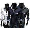 2014 new Autumn Unique Pocket Plaid CONTRAST COLOR  POLO shirts men brand casual slim fit POLO shirts for men,M-XXL,681