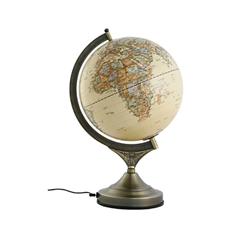 25cm 220V Antique 3D Relief High Base Earth Globe Table Lamp World Map Light Study Office Decor Geography Teach Gift Kids Lamp 1pc 32cm world globe map ornaments with swivel stand home office office shop desk decor world map geography educational tool