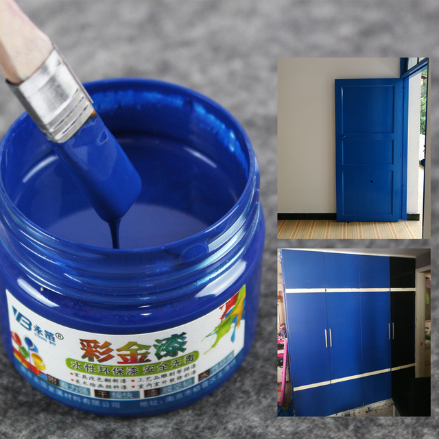 One Bottle Bright Royal Blue Paint 100g Metal Lacquer Wood Tasteless Water Based Can Be Lied On Any Surface
