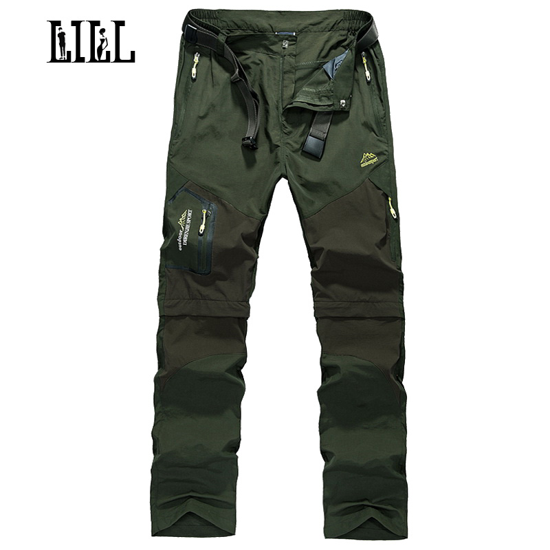 LILL | Removable Quick Dry Mens Cargo Pants Men 2017 Summer Military Thin Short Trousers Army Style Male Casual Pants,UA162