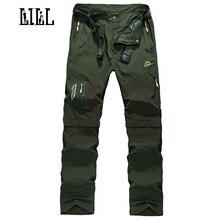 LILL | Abnehmbare Quick Dry Cargo Pants Männer 2017 Sommer Militär Dünne Kurze Hosen Armee Stil Männlichen Casual Hosen, UA162