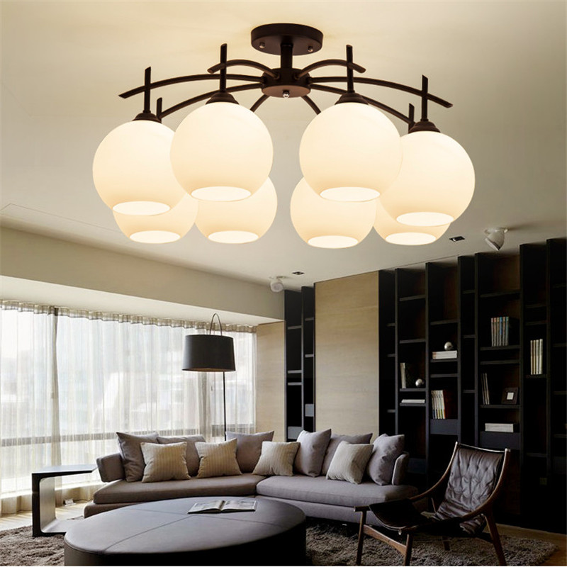 Creative artistic Modern Led Ceiling Lights For Living Room bedroom lamps 8 heads for kitchen lamp balcony ceiling light-X-02 creative star moon lampshade ceiling light 85 265v 24w led child baby room ceiling lamps foyer bedroom decoration lights