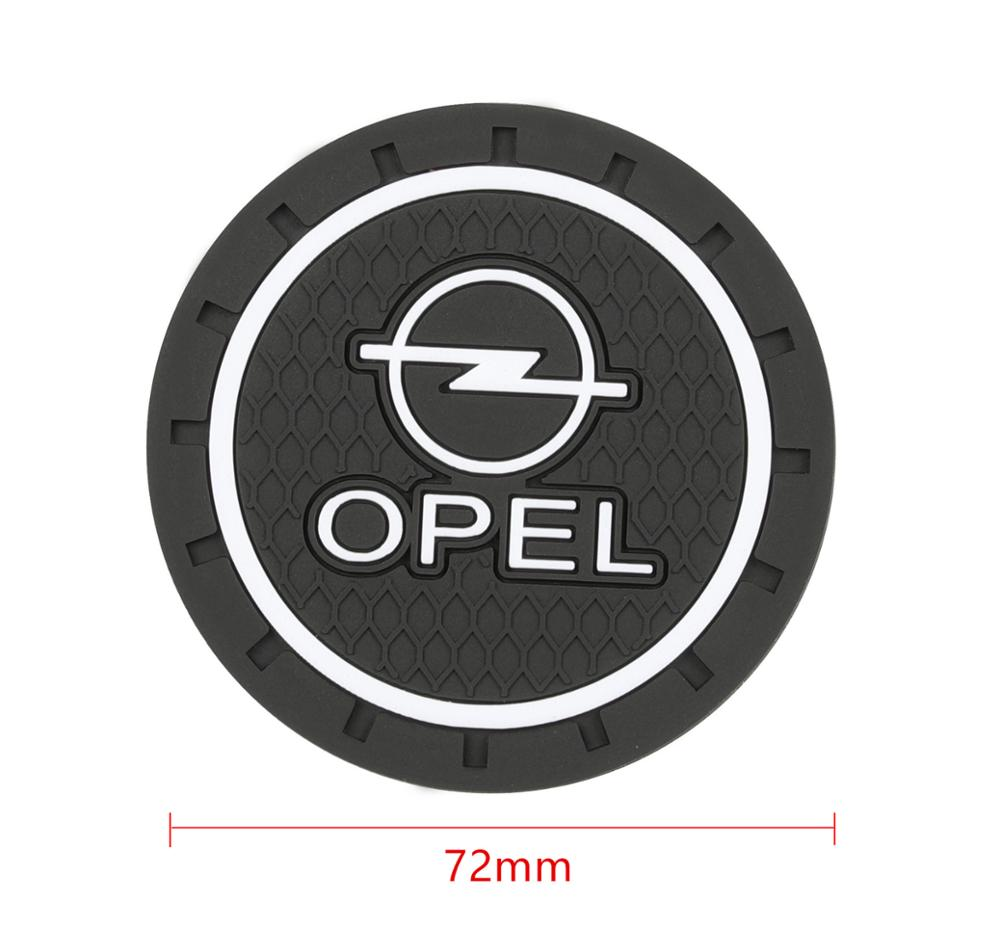Image 2 - 2PCS Car Water Cup Bottle Holder Anti slip Pad Mat Silica Gel for OPEL Corsa Insignia Astra Antara Meriva Zafira Accessories-in Car Tax Disc Holders from Automobiles & Motorcycles