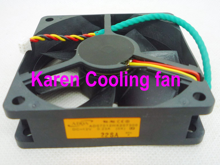 New Original ADDA 7CM AD07012HX207300 7020 12V 0.23A GM1207PKVX-A 3WIRE projector Cooling fan free delivery original afb1212she 12v 1 60a 12cm 12038 3 wire cooling fan r00