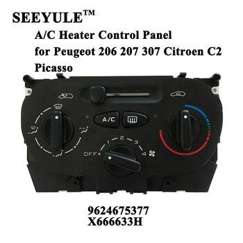 SEEYULE coche/C/Panel de Control de calentador 9624675377 aire acondicionado interruptor de temperatura para Peugeot 206 de 207 de 307 Citroen C2 picasso