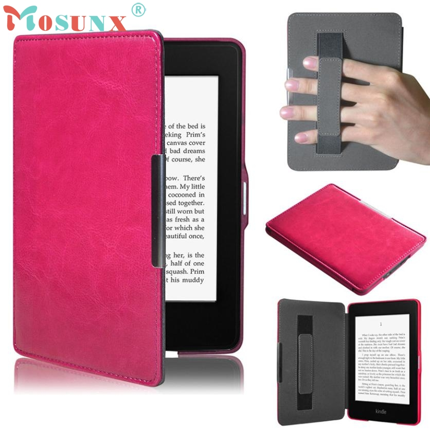 2017 New Ultra Slim PU Leather Smart Case Cover For Amazon Kindle Paperwhite 5 HOT pu leather ebook case for kindle paperwhite paper white 1 2 3 2015 ultra slim hard shell flip cover crazy horse lines wake sleep