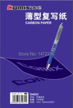 Comix D4032 copy carbon paper duplicating 100sheets size 128*85mm ,color : blue free shipping